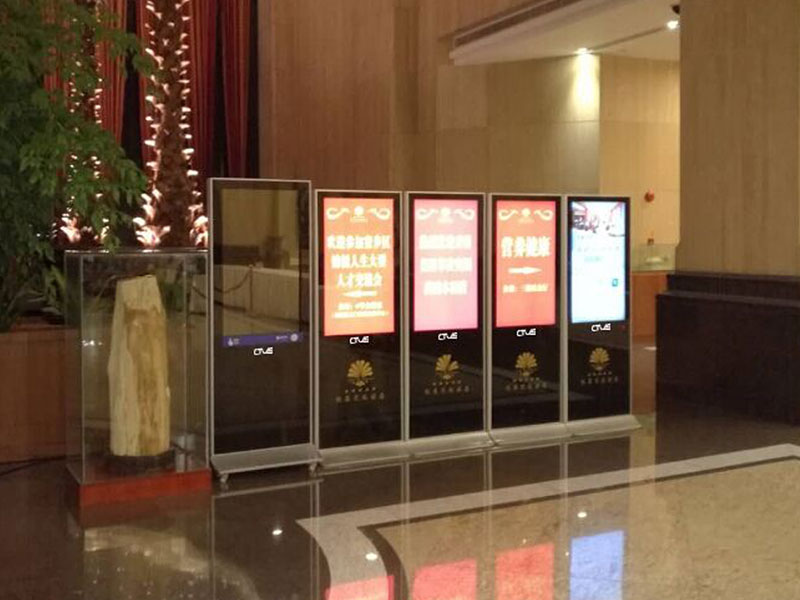 悦菜花园酒店液晶广告机应用案例