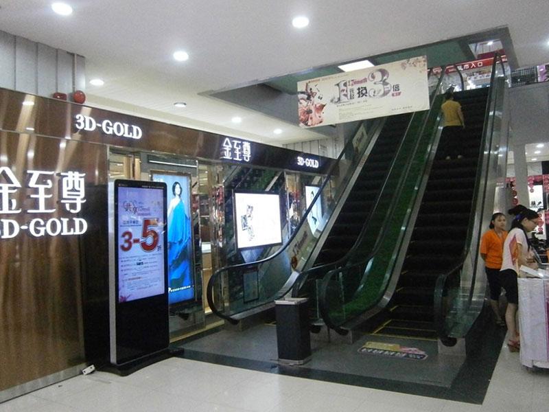 商场立式广告机安装案例
